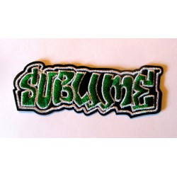 petit patch groupe sublime noir et vert 9.5x3.5 cm  écusson  thermocollant  veste chemise