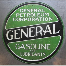 plaque general gasoline petroleum affiche déco metal pub 30cm