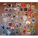 lot de 50 stickers crane  tete de mort autocollant fond blanc pirate biker