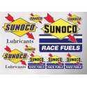 1 planche de stickers sunoco fleche oil huile essence decoration auto moto rallye