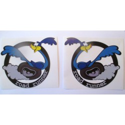 2 stickers road runner droite gauche  mopar 13x11 cm autocollant rockabilly