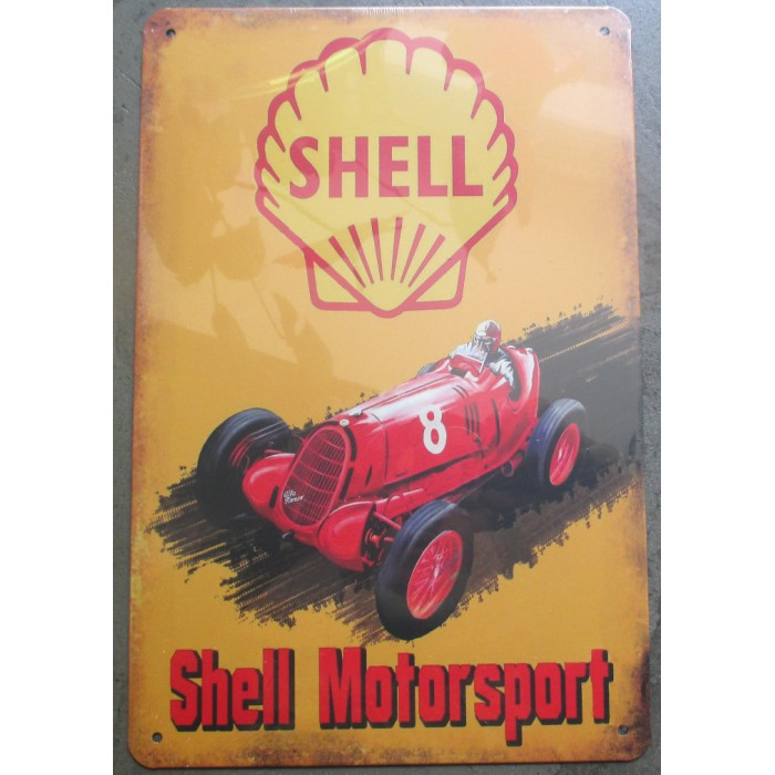 plaque shell motorsport voiture ancienne affiche pub tole m tal. Black Bedroom Furniture Sets. Home Design Ideas