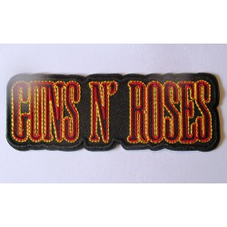 patch groupe guns n roses ecriture rouge 12x4.5 cm rouge ecusson thermocollant  hard rock