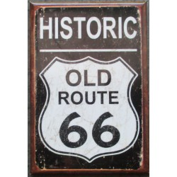 magnet 8x5.5 cm historic old route 66 sixty six road  deco garage cuisine bar diner loft frigo