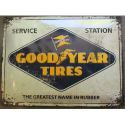 plaque good year tires service station  tole bombée 40cm pub garage