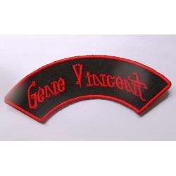 patch gene vincent banderolle noir rouge ecusson rockabilly fan rock roll