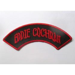 patch eddie cochran banderolle noir rouge ecusson rockabilly fan rock roll