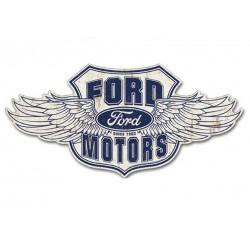 grande plaque ford motor aillé 80x39 cm tole metal garage diner loft