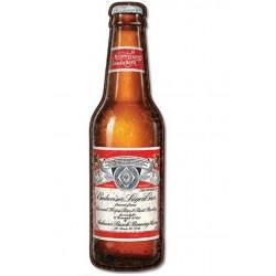 grande plaque bouteille de biere budweiser 90x22 cm tole metal bar restaurant diner loft