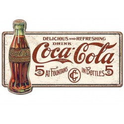 grande plaque enseigne coca cola 71x44 cm tole metal bar restaurant diner loft