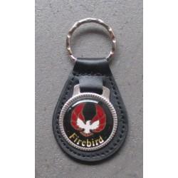 porte clé métal cuir firebird pontiac logo noir aigle auto usa
