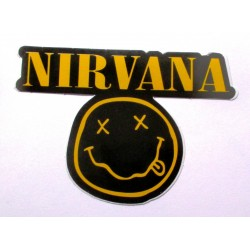 sticker  groupe nirvanan 10x7 cm  grune rock roll autocollant