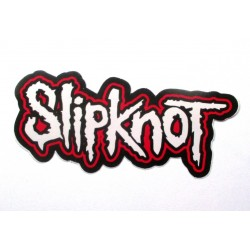 sticker  groupe slipknot12x6.5 cm rouge blanc rock roll autocollant