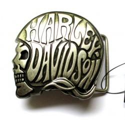 boucle de ceinture  harley davidson officiel logo casque de moto avec inscription