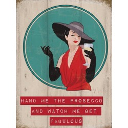 plaque pin up watch me get fabulous style année 30 40x30cm pub metal tole salon