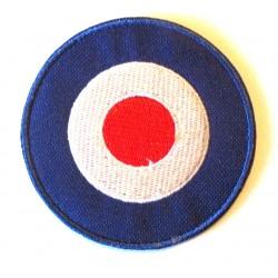 patch cible logo vespa 6cm mod cible bleu ecusson rock roll