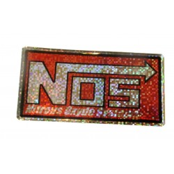 sticker nos a paillettes nitro oxyde systeme drag racing 8x4cm