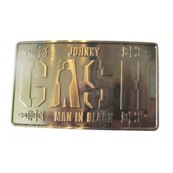 boucle de ceinture johnny cash man in black rectangulaire marq ue rumble 59 rockabilly  homme femme