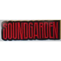 patch groupe soundgarden noir rouge 12x4 cm ecusson thermocollant