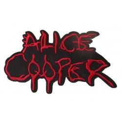patch alice cooper noir rouge 10.5x5.5cm ecusson thermocollant hard rock