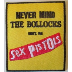 patch sex pistols never mind the bollocks 8.5x7.5 cm ecusson thermocollant punk