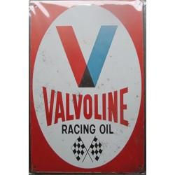 plaque  valvoline motor oil garage  huile 30cm tole publicitaire metal pub