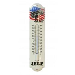 thermometre en email  jeep militaite et drapeau americain  30cm deco garage tole emaillée