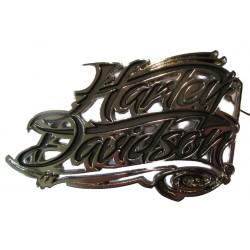 boucle de ceinture harley davidson officiel signature inscription  chromé