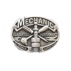 boucle de ceinture méchanic alu bougie  clé cliquet tournevis homme mécano