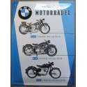 plaque 3 motos bmw R32  R12 R26 tole 40cm  bombée motorcycle deco garage metal